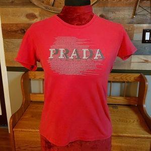 """Prada Short Sleeve """"Prada"""" T Shirt"""